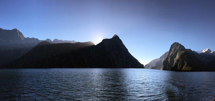 Mountain, Sea, Landscape, Fjord, Sea Mountain