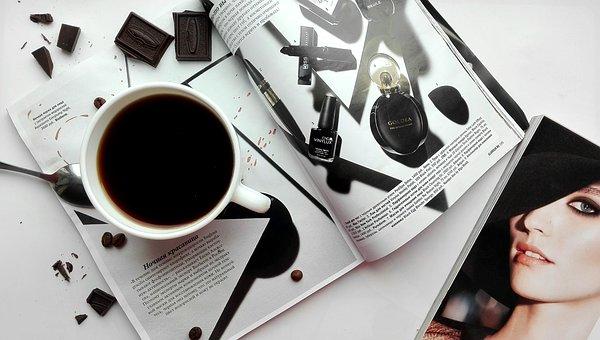 Coffee, Drinks, Magazine, Gloss, Chocolate, Dessert