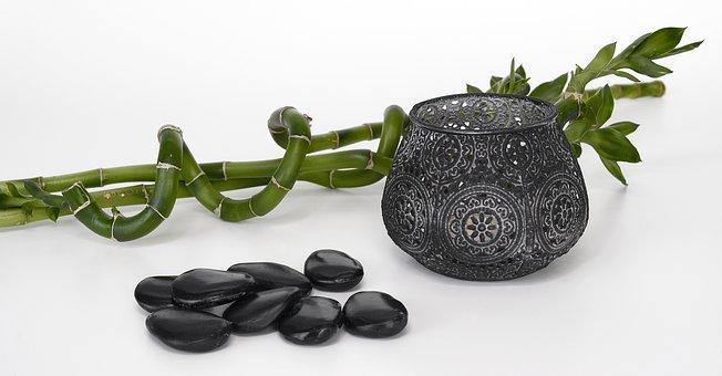 Stones, Black, Bamboo, Luck Bamboo, Massage, Hot Stones