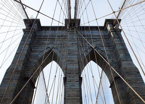 Brooklyn, Bridge, Brooklyn Bridge, Usa, New York