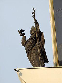 Pope, Pope John Paul Ii, Religion, Statue, Poland