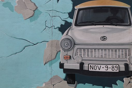 Satellite, East, Side, Gallery, Berlin, Berlin Wall
