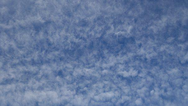 Sky, Clouds, Cloudy, Blue, Background, Cirrocumulus