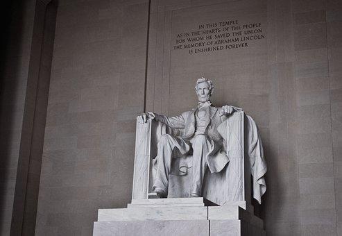 Lincoln Memorial, Abraham Lincoln, Statue, Washington