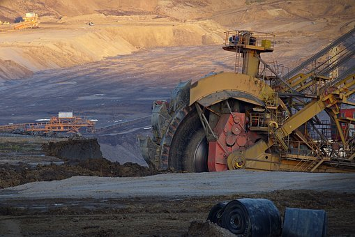Excavator, Wheel, Extraction, Coal, Strip-mine