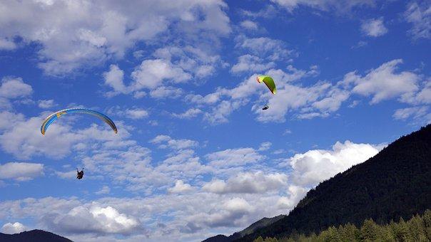 Flying, Feeling Of Freedom, Paraglider, Hobby, Wallberg