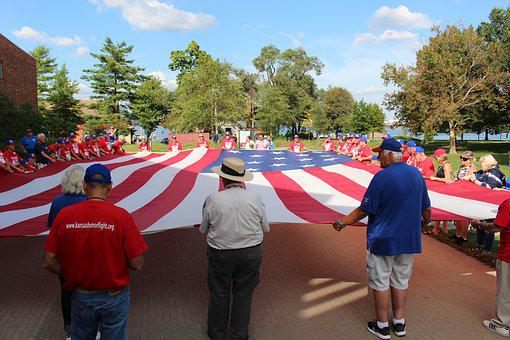 Honor Flight, Ww Ii Veteran, Fort, Mchenry, Flag